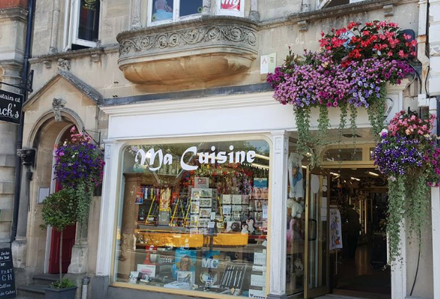Above: Ma Cuisine in Devizes is among the busy shops.