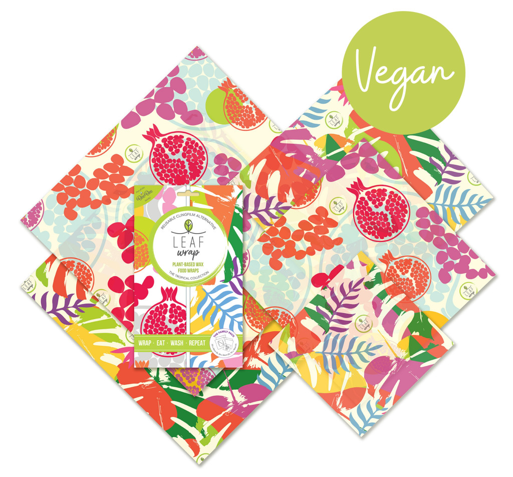 Above: Leaf Wrap Vegan Food Wrap is part of the Eco-Living trend.