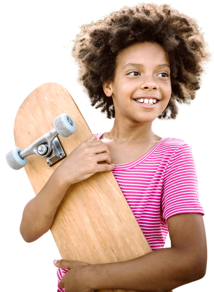 Above: Some participants might choose a free style challenge on a skateboard.