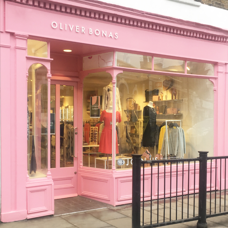 Above: An Oliver Bonas store in London's Blackheath: the lifestyle retailer stockists homewares and gifts.