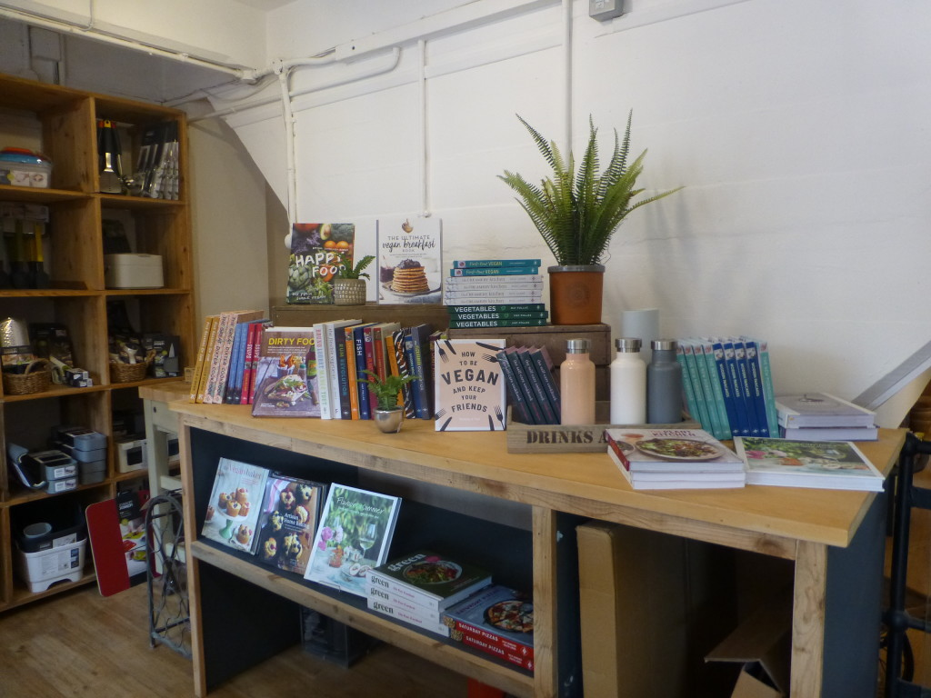 Above:  A selection of cookbooks near the kitchenware area.