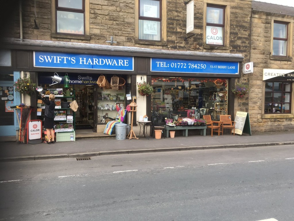 Above: Housewares stockist Swift's Hardware and Home has been affected by road closures.