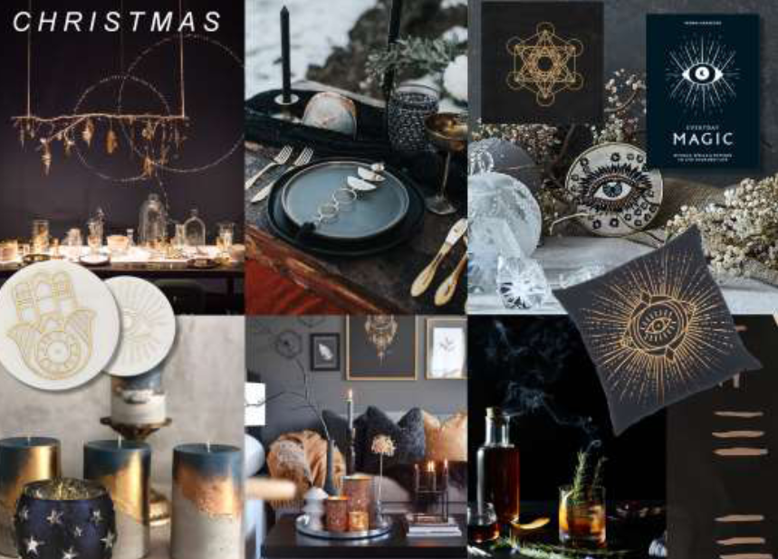 Above: Scarlet Opus' montage of images for an Earth Age Christmas – the trend will influence table settings, as well as consumers' appreciation of Christmas dining rituals. The image was used by Scarlet Opus' Phil Pond in his Trend Talks webinars for Exclusively Digital.