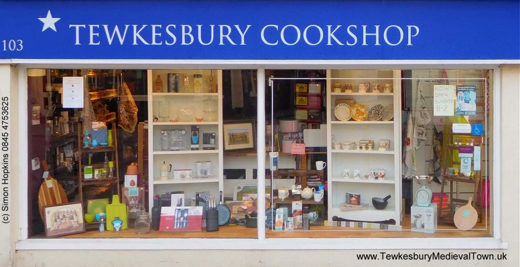 Above: The long term problem of outdated business rates was cited by Tewkesbury Cookshop when it closed a year ago. In the shop's last tweet on September 19 2019, it said 'Until the retail playing field is levelled & online businesses are taxed fairly, rents/rates lowered for independents & locals use their shops, we just can't compete.'