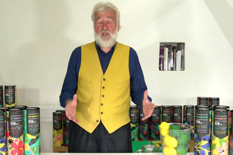 Above: Gin Etc's Nigel Ferrier presents his range in a short video at Top Drawer On Demand.
