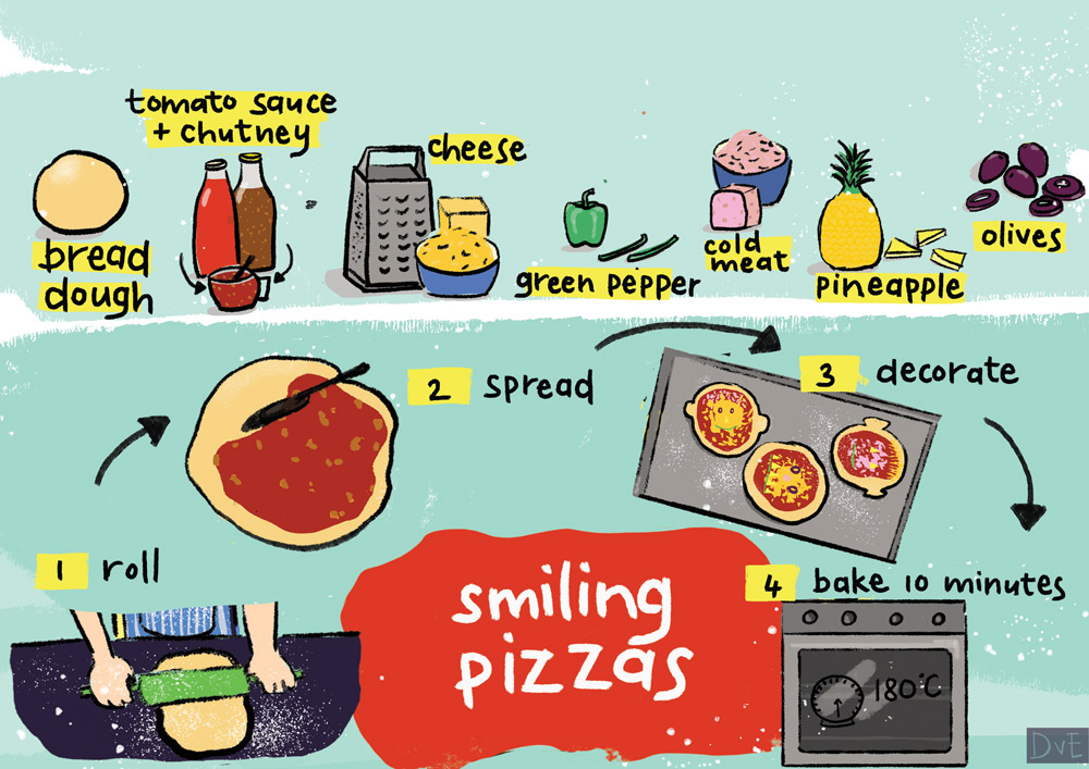 Above: Smiling Pizza design from Danelle van Eeden's Kos Kos, one of the new brand in year's License This! finals.