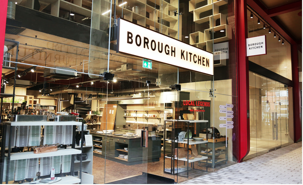 Above: The shop is situated in Islington's new high-end development.