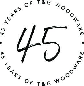 Above: T&G's 45th anniversary logo.