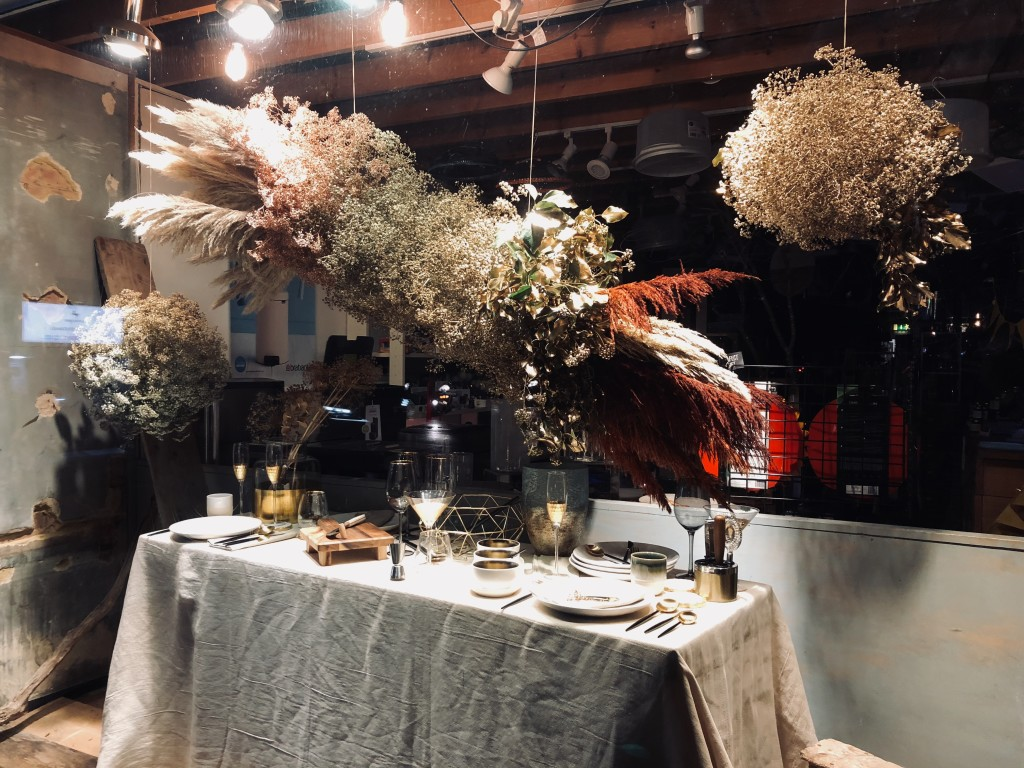 Above: A festive table display by Kitchen Range, West Wickham.
