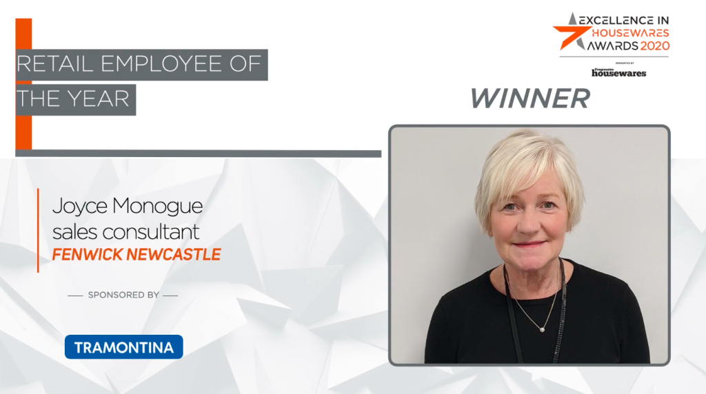 Above: Retail Employee of the Year 2020: Joyce Monogue, sales consultant at Fenwick Newcastle.
