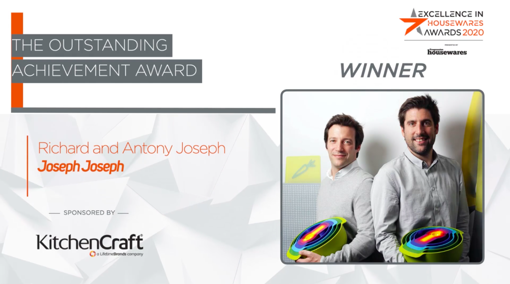 Above: Antony and Richard Joseph, co-founders of Joseph Joseph, scooped the Outstanding Achievement Award.