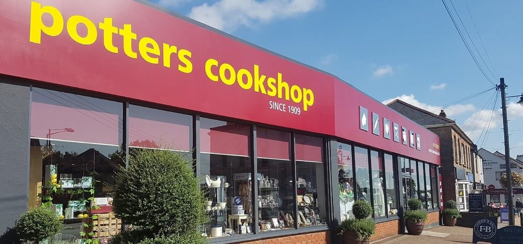 Above: Potters Cookshop in Hockley continues to offer click and collect, with the hardware and DIY side of the business still open.