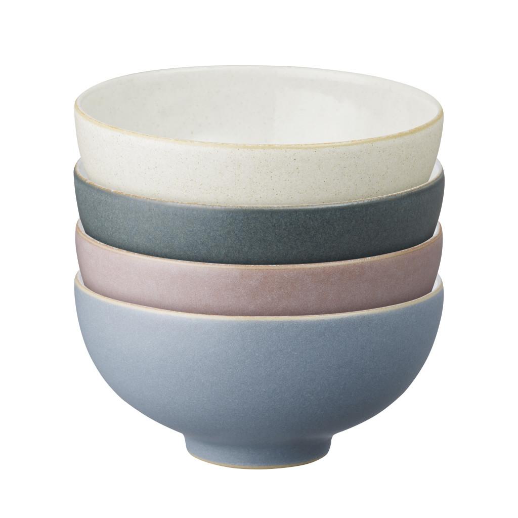 Above: Soft tones: Denby's Always Entertaining Deli 4-Piece Small Bowl Set