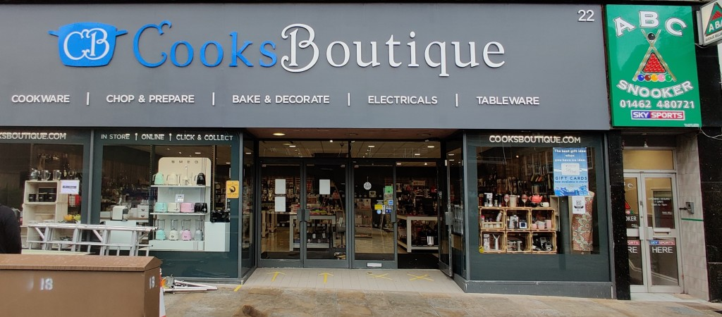 Above: Cooks Boutique plans to order stock and deep clean.