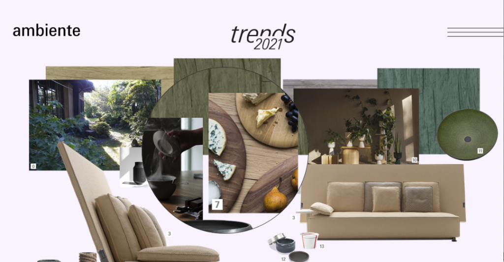 Above: Woodware presented in the 'related to nature' trend.