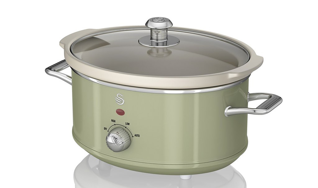 Above: Swan's Retro Slow Cooker is one of Wayfair's highlighted products as consumers are cooking more from scratch.