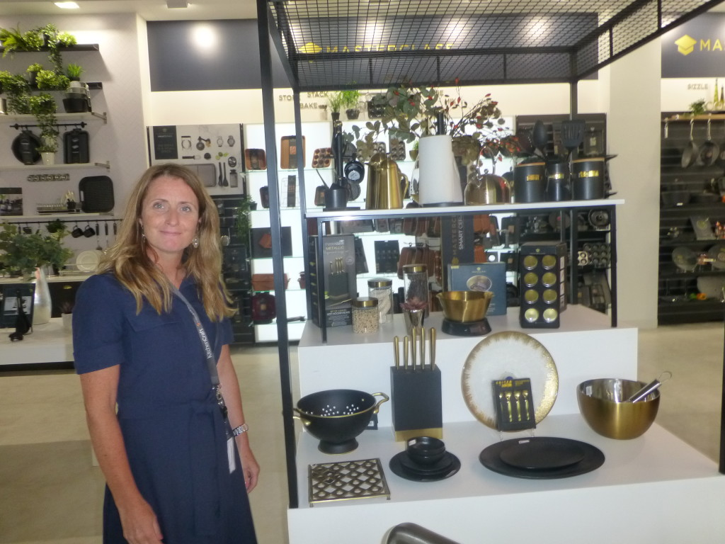 Above: Claire Budgen in one of Lifetime Brand's showrooms at The Hub.