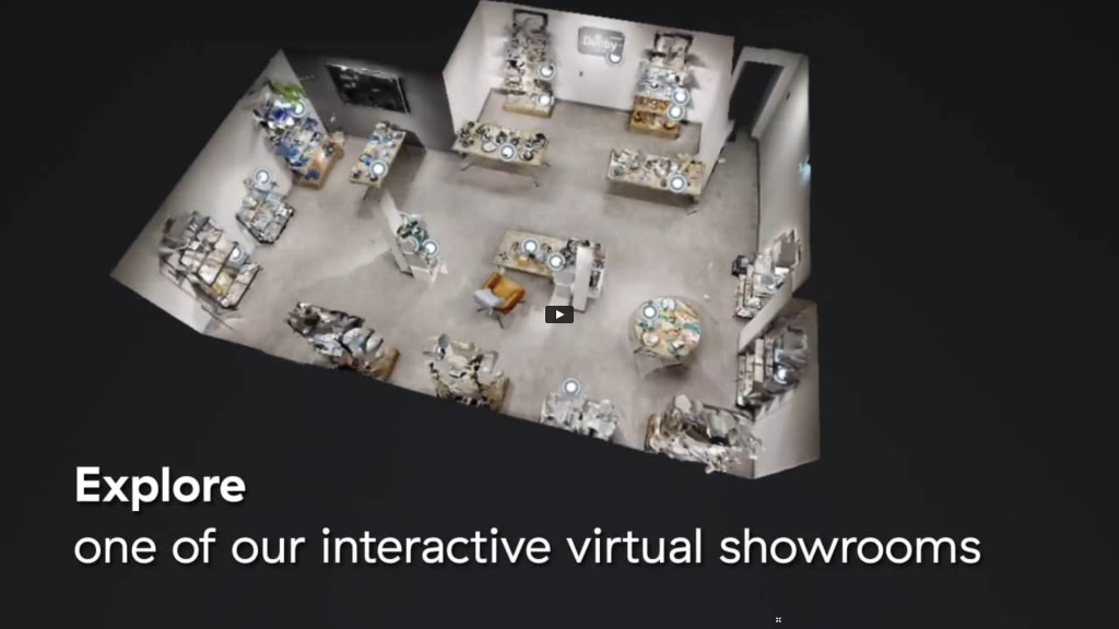 Above: Customers can look around the virtual showroom in their own time.