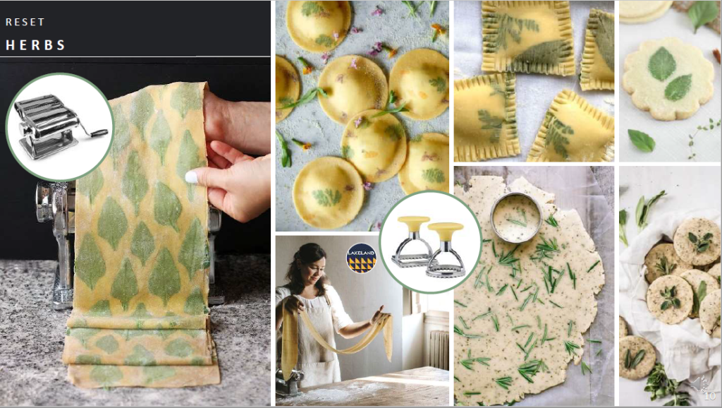 Above: Foliage patterns in home made pasta: one of Scarlet Opus' illustrations of the Reset theme.