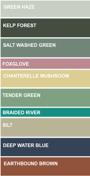 Above: Colours that will be popular for the Reset theme.