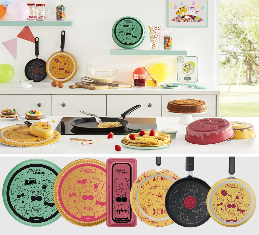 Above: Chefclub by Tefal crepe pans and bakeware were launched in France earlier this year.