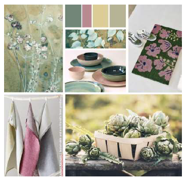 Above: Tableware and textiles are among the Reset products.