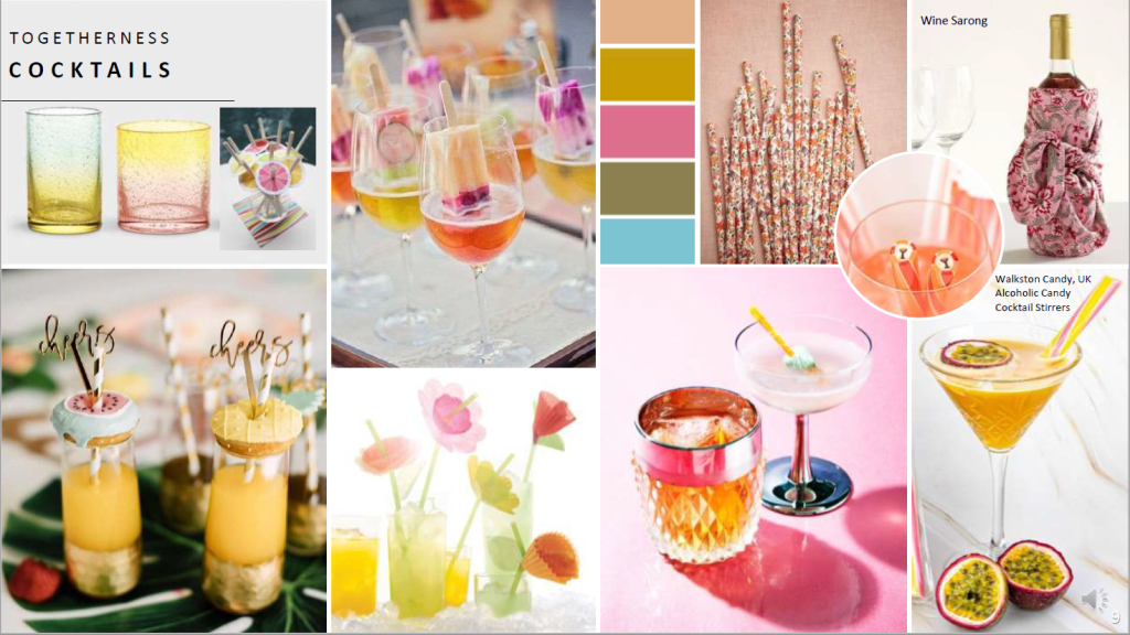 Above: Quirky cocktails will be popular over the next few years.