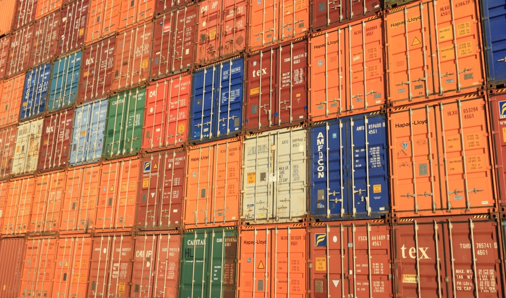 Above: This month is seeing record levels on container prices.