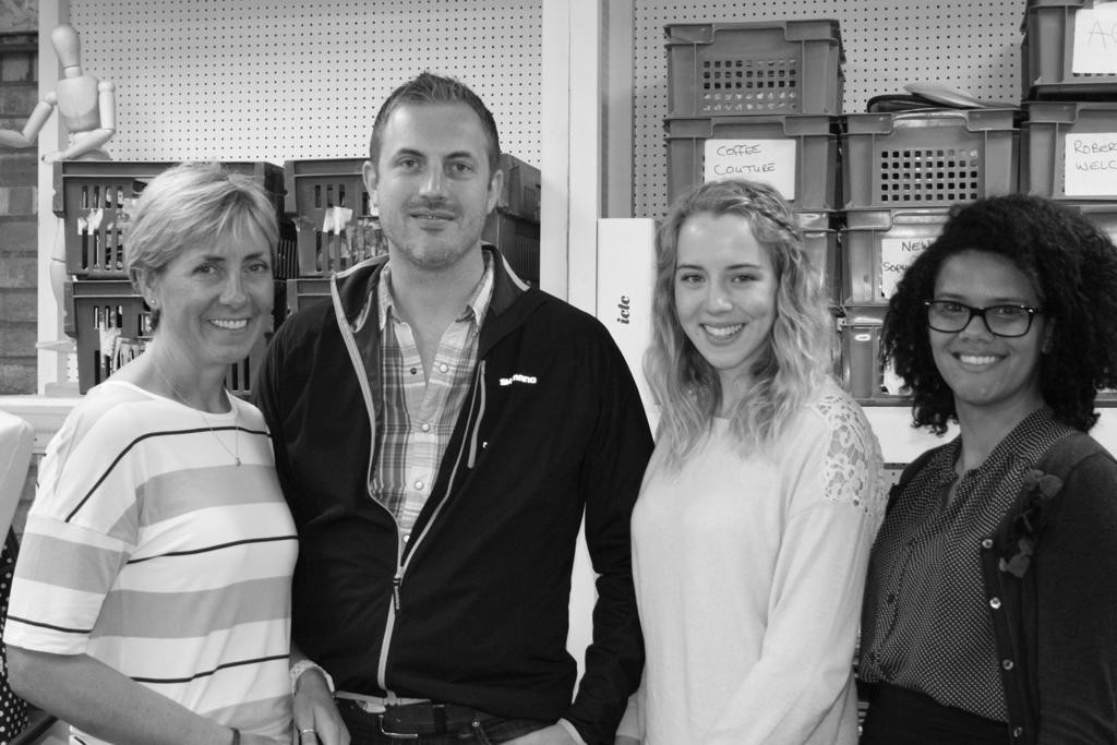 Above: Ruth with James Carter and colleagues Amy Gladding and Kelly-May Sageat ICTC (Intercontinental Cookware Trading Company)
