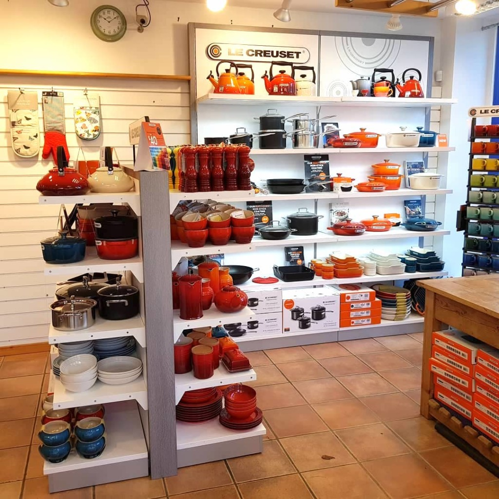 Above: Part of Salamander Cookshop that was revamped towards the end of 2020, with support from Le Creuset.