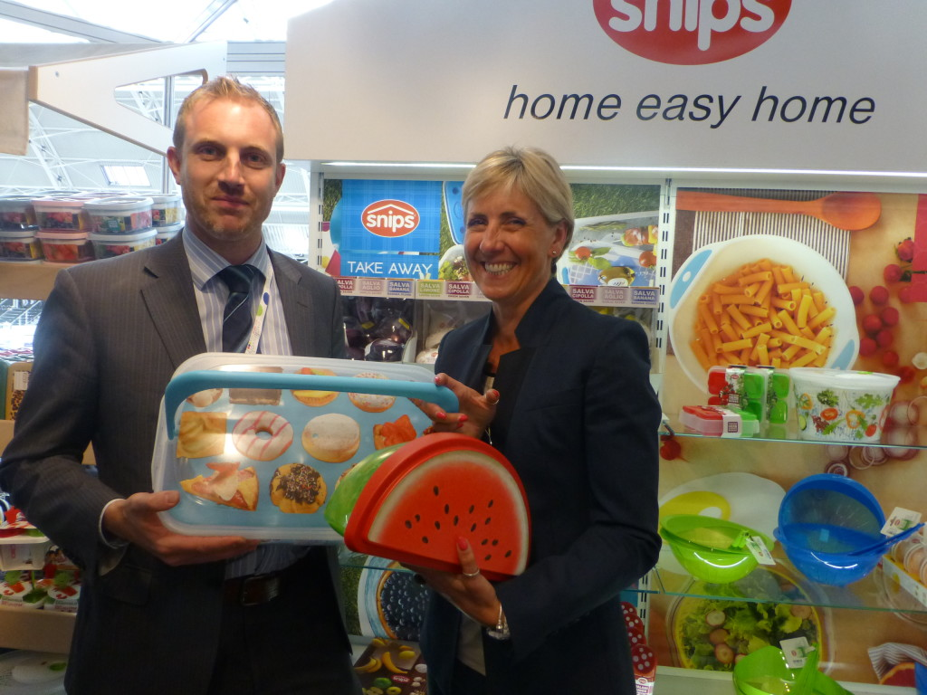 Above: Ruth pictured with James Carter, sales director on ICTC's stand at Exclusively in 2015.