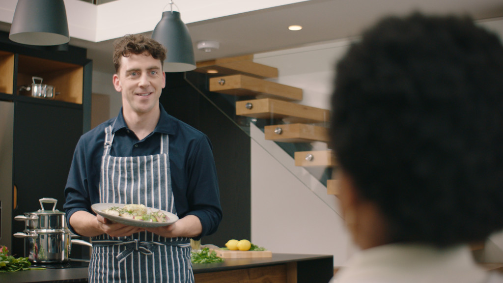 Above: Dishing up: scene from the new advertisement from ProCook, which was make by production company Hello Love.