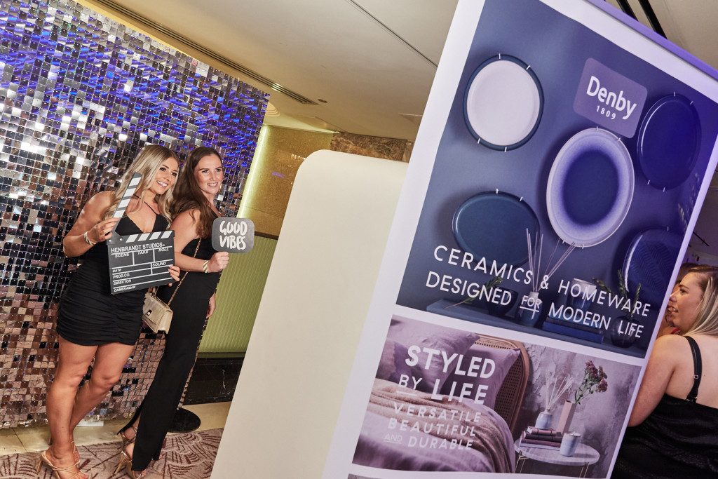 Above: The photoboth (sponsored by Denby) was a popular destination during the post Awards party.