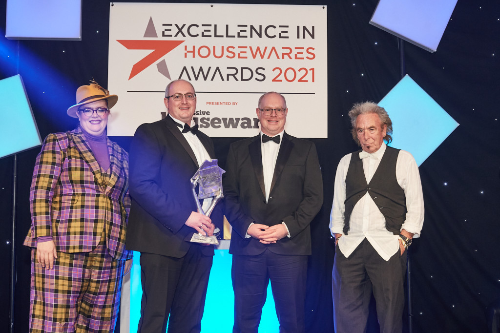 Above: Graham and Jonathan Hart of Harts of Stur picked up the Excellence in Online Retailing Award, presented by Mike Winch from sponsor Candlelight.
