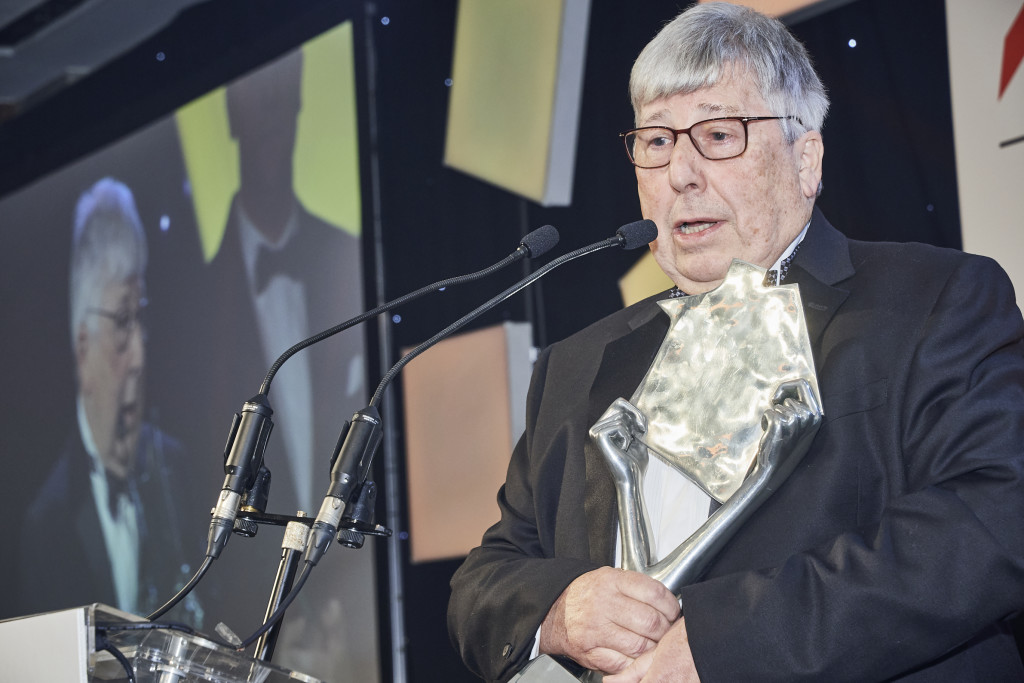 Above: David addressed guests at the EIH Awards, saying it was an honour to be recognised.